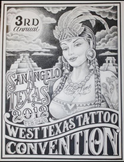 West Texas Tattoo Convention 2012 Poster
