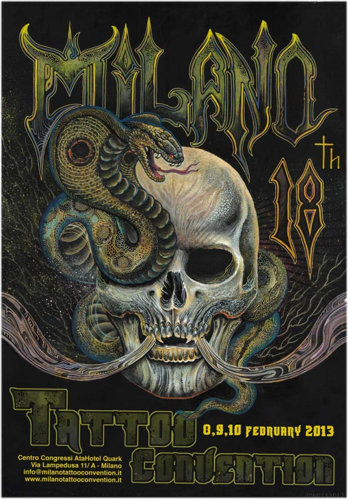 Milano Tattoo Convention 2013 Poster
