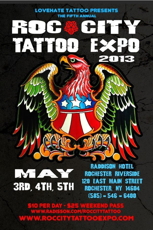 Roc City Tattoo Expo 2013 Poster