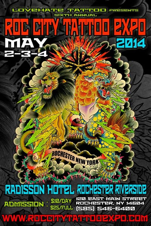 Roc City Tattoo Expo 2014 Poster