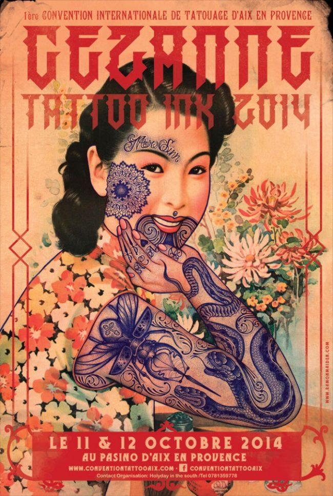Cezanne Tattoo Convention 2014 Poster