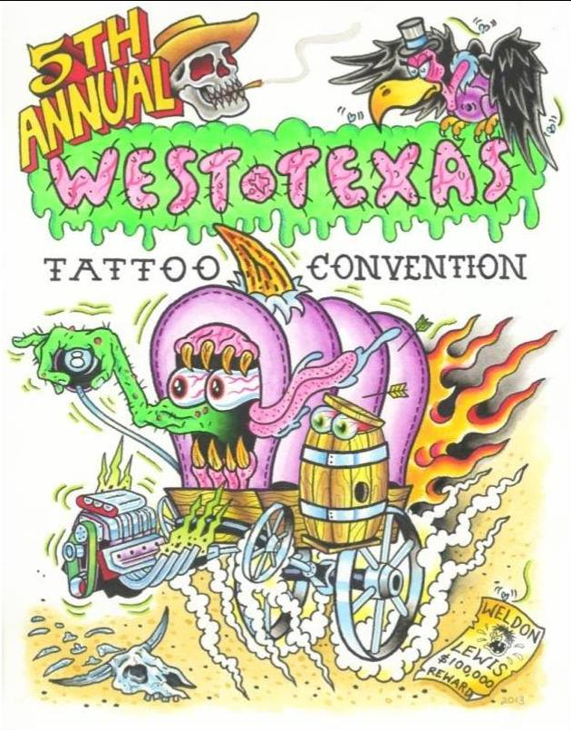 West Texas Tattoo Convention 2014 Poster