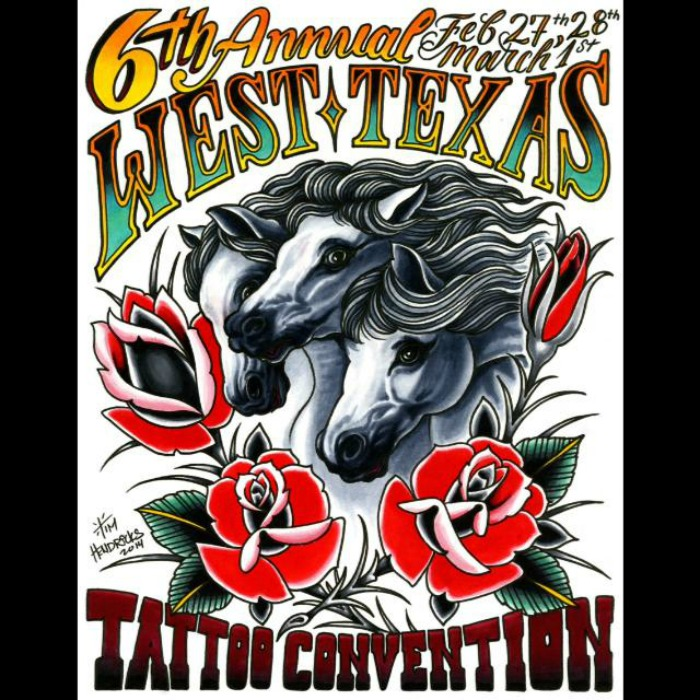 West Texas Tattoo Convention 2015 Poster