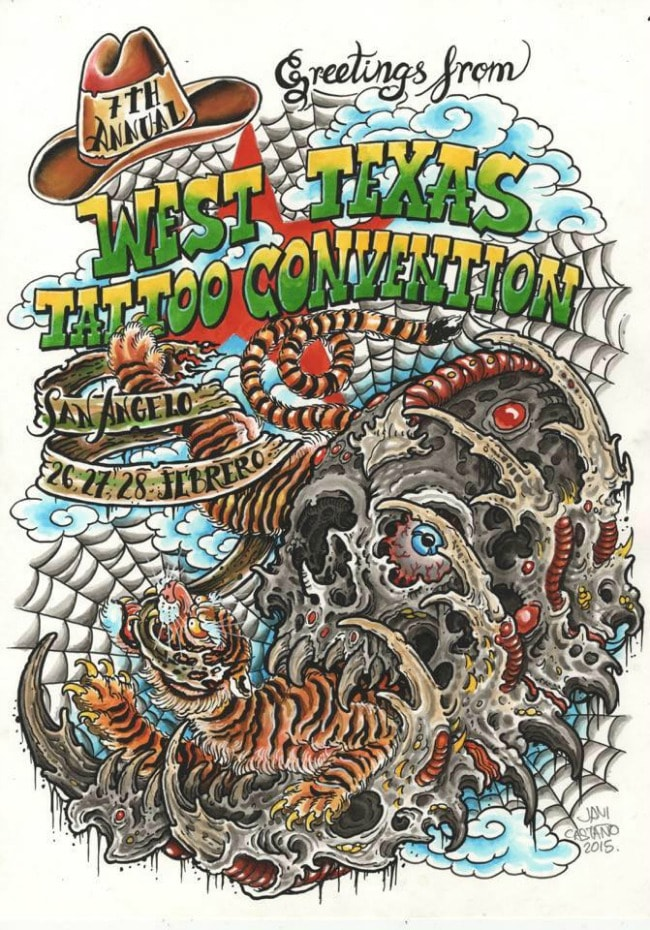 West Texas Tattoo Convention 2016 Poster