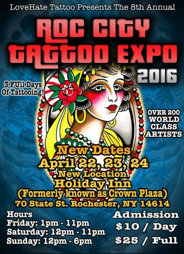 Roc City Tattoo Expo 2016 Poster
