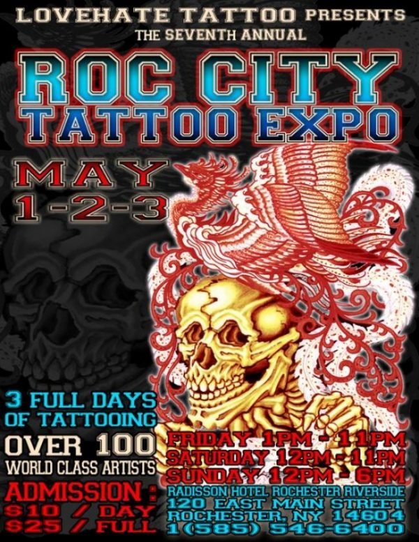 Roc City Tattoo Expo 2015 Poster