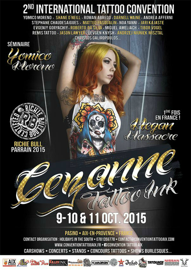 Cezanne Tattoo Convention 2015 Poster