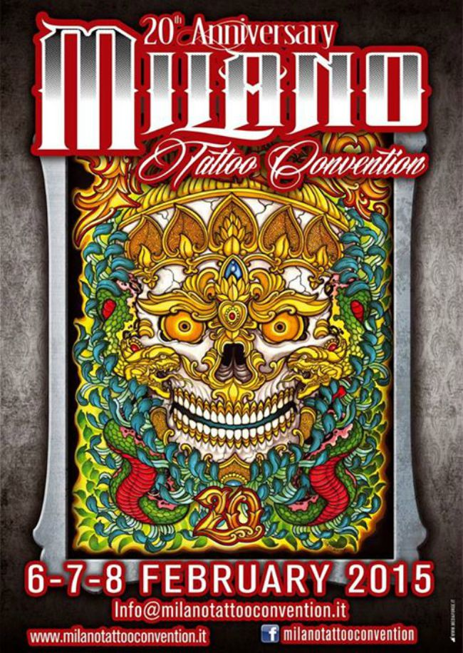 Milano Tattoo Convention 2015 Poster