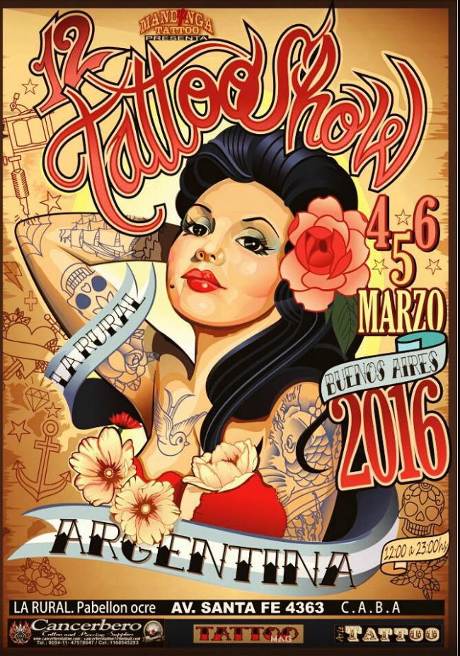 Tattoo Show Buenos Aires 2016 Poster