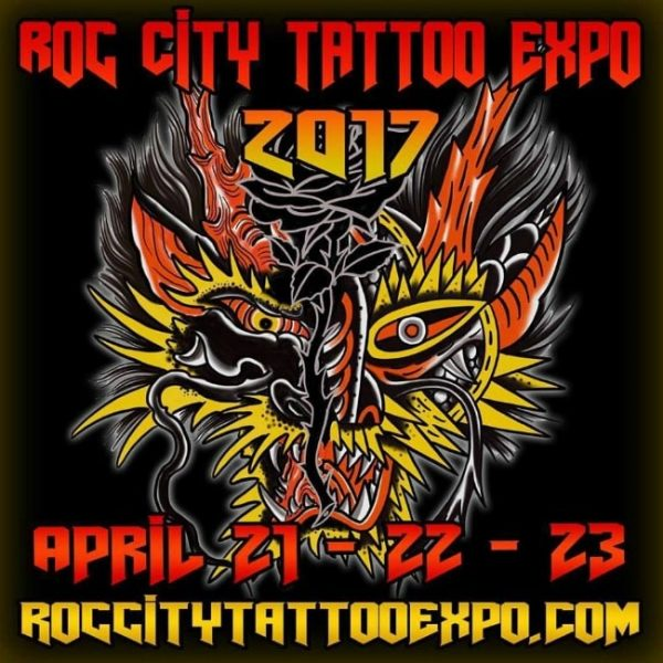 Roc City Tattoo Expo 2017 Poster