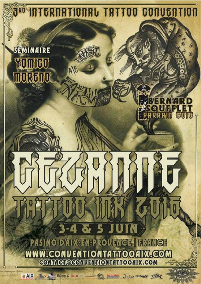 Cezanne Tattoo Convention 2016 Poster