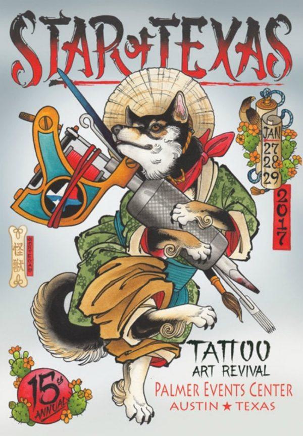 Star Of Texas Tattoo Art Revival 2017 Poster