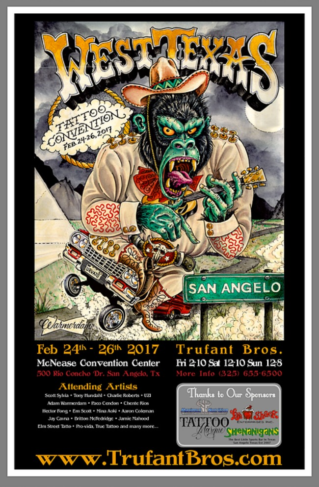 West Texas Tattoo Convention 2017 Poster