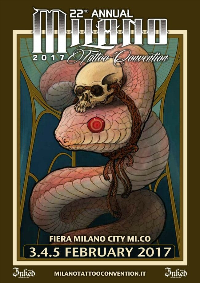 Milano Tattoo Convention 2017 Poster