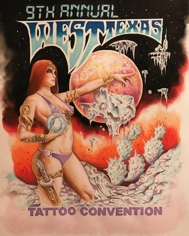 West Texas Tattoo Convention 2018 Poster