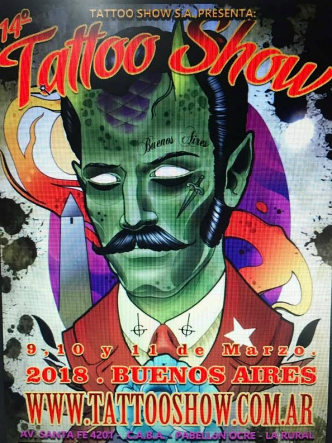 Tattoo Show Buenos Aires 2018 Poster