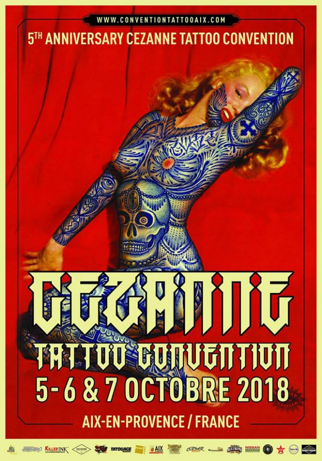 Cezanne Tattoo Convention 2018 Poster