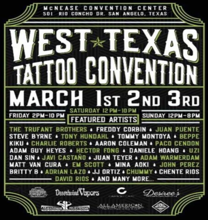 West Texas Tattoo Convention 2019 Poster