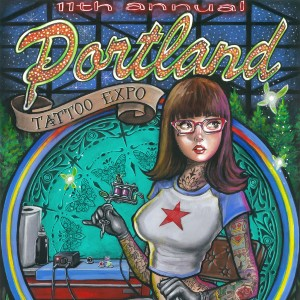 portland tattoo expo poster 2019 11th
