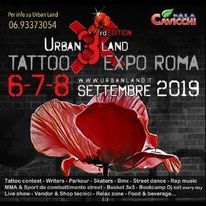 Roma Urban Lland Tattoo Convention 2019 Pala Cavicchi