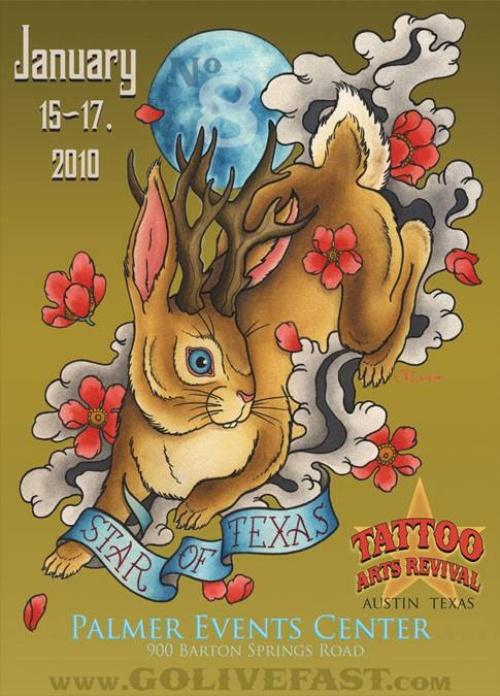 Star Of Texas Tattoo Art Revival 2010 Poster