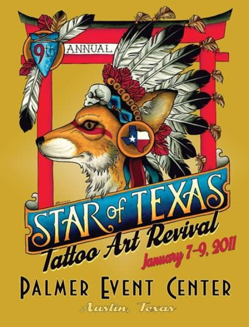 Star Of Texas Tattoo Art Revival 2011 Poster