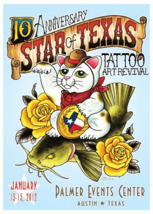 Star Of Texas Tattoo Art Revival 2012 Poster