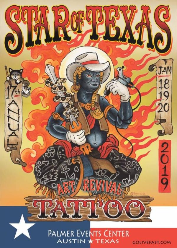 Star Of Texas Tattoo Art Revival 2019 Poster