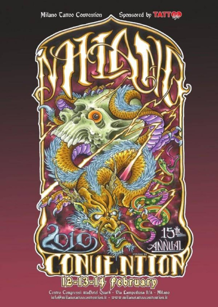 Milano Tattoo Convention 2010 Poster