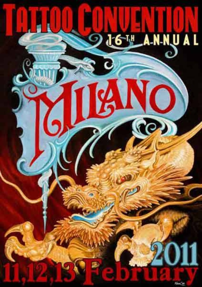 Milano Tattoo Convention 2011 Poster