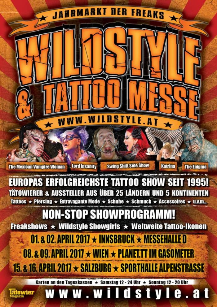 Wildstyle & Tattoo Tour Vienna 26 September 2020