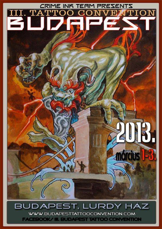 Budapest Tattoo Convention 2013 Poster