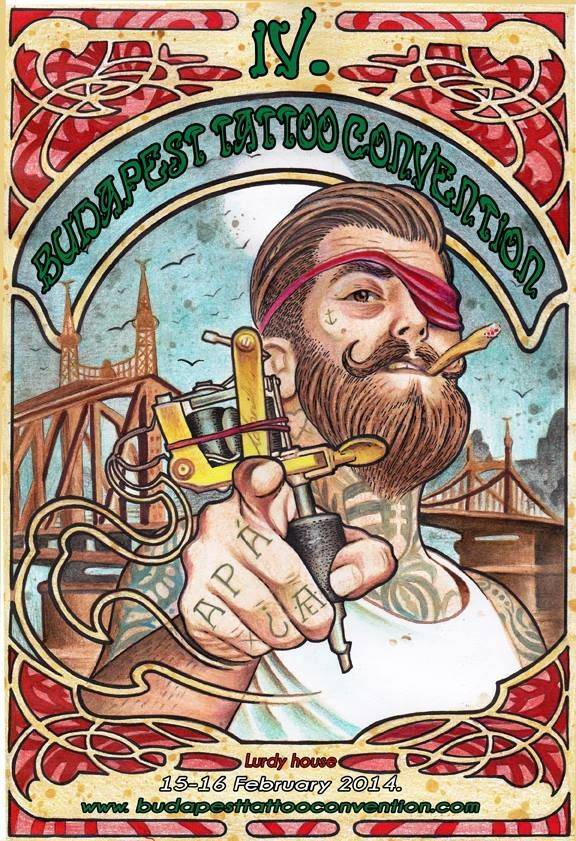 Budapest Tattoo Convention 2014 Poster
