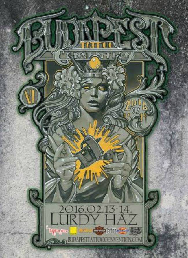 Budapest Tattoo Convention 2016 Poster