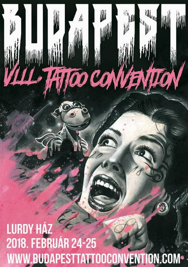 Budapest Tattoo Convention 2018 Poster