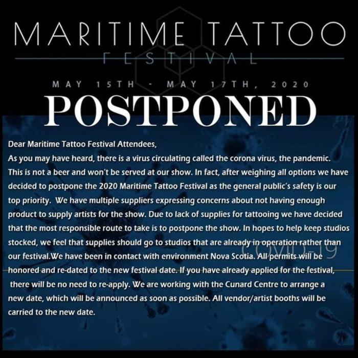 Maritime Tattoo & Music Festival 15 May 2020