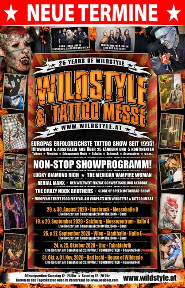 Wildstyle & Tattoo Messe Tour Vienna 2020 New Poster